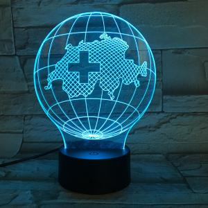 7 Color Touch Changing 3D Tellurion Night Light - TRANSPARENT