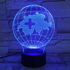 7 Color Touch Changing 3D Tellurion Night Light -