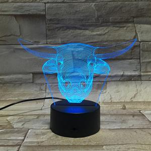 7 Color Touch Changing 3D Tauren Night Light