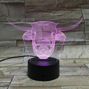 7 Color Touch Changing 3D Tauren Night Light -