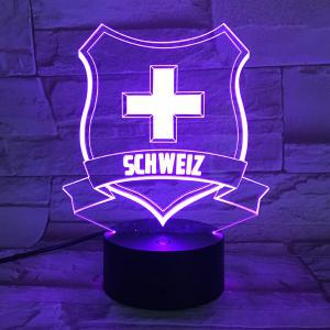 7 Color Touch Changing 3D Medal Night Light -
