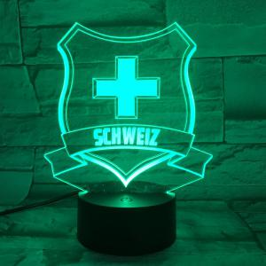 7 Color Touch Changing 3D Medal Night Light - TRANSPARENT