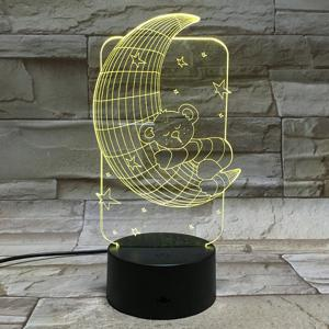 7 Color Touch Changing 3D Baby Bear Night Light - TRANSPARENT