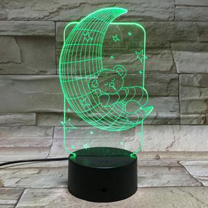 7 Color Touch Changing 3D Baby Bear Night Light