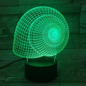 7 Color Touch Changing 3D Snail's Shell Night Light -