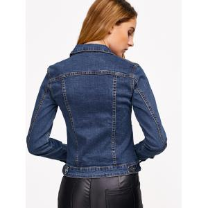 Pocket Design Buttoned Fit Denim Jacket -