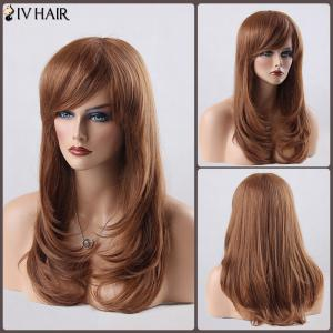 Long Layered Tail Adduction Side Bang Siv Human Hair Wig