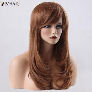 Long Layered Tail Adduction Side Bang Siv Human Hair Wig -