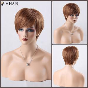 Short Boy Cut Side Bang Straight Siv Human Hair Wig