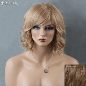 Short Side Bang Curly Siv Human Hair Wig