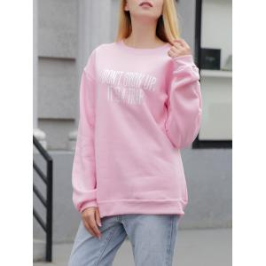 Fleece Casual Letter Print Sweatshirt -