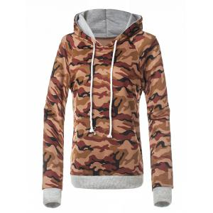 Fitted Camo Printing Hoodie