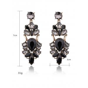 Faux Crystal Water Drop Earrings -