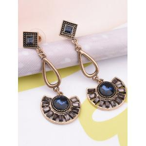Vintage Faux Gem Enamel Dangle Earrings -