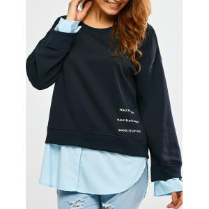 Patchwork Graphic Sweatshirt
