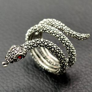 Cool Rhinestone Snake Finger Cuff Ring