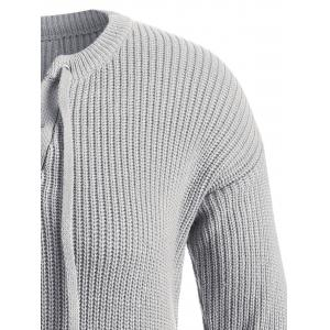 Pullover Plus Size Sweater - GRAY 5XL