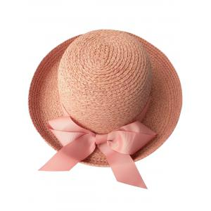 Casual Bowknot Bowler Straw Hat