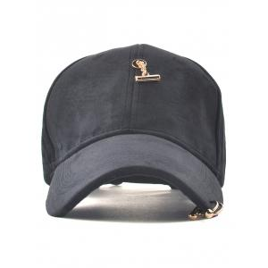 Casual Iron Ring Pleuche Baseball Cap -