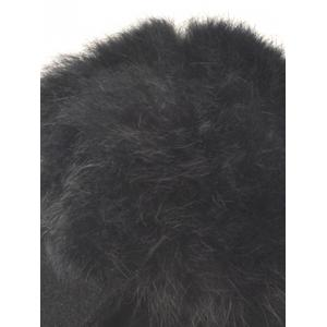 Wool Felt Ribbed Fuzzy Ball Baseball Hat -