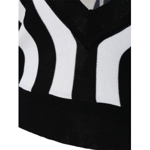 Striped Color Block Pullover Knitwear -