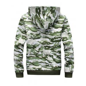 Camo Flocking Hoodie and Drawstring Pants Twinset - GREEN 5XL