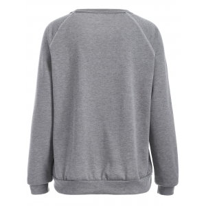 Arrow Graphic Sweatshirt - GRAY XL