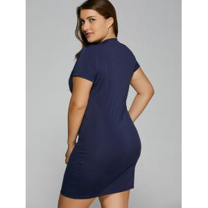 Summer Short Sleeve Plus Size Bodycon Dress -