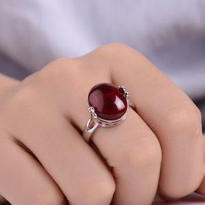 Natural Stone Oval Ring -