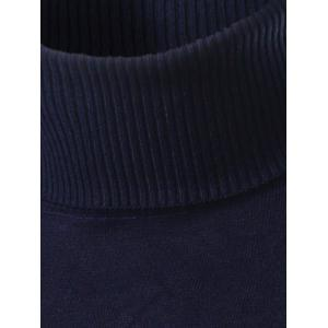 Slim Fit Roll Neck Pullover Sweater - BLACK 3XL