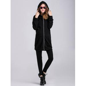 Thicken Applique Zipped Maternity Hoodie -