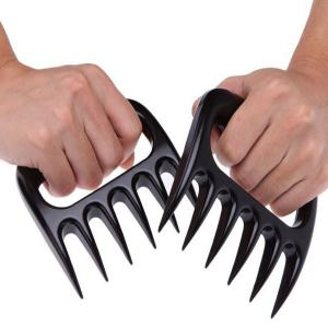 2PCS Pork Meat Handler Pull Shred Bear Claw Barbecue Forks - BLACK