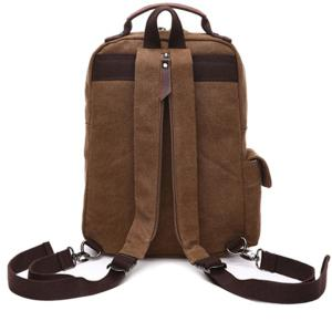 Double Buckle Pocket Zippers Backpack - KHAKI