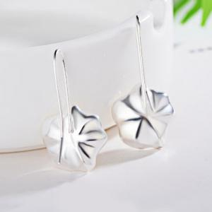 Artificial Pearl Conch Floral Earrings - SILVER