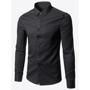 Plus Size Pocket Business Shirt
