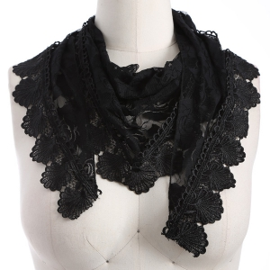 Travel Leaf Tassel Pendant Trim Lace Triangle Scarf