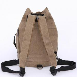 String Zippers Canvas Backpack -