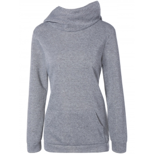 Hooded Pullover Hoodie - GRAY 2XL