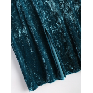 Maxi Velvet Cami Dress - PEACOCK BLUE L