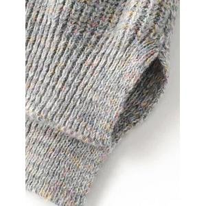 Long Turtleneck Heathered Sweater -