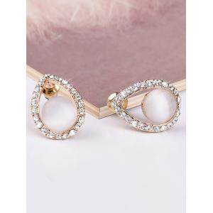 Teardrop Hollow Faux Gem Earrings -
