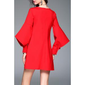 Asymmetrical Sleeve Mini Dress -
