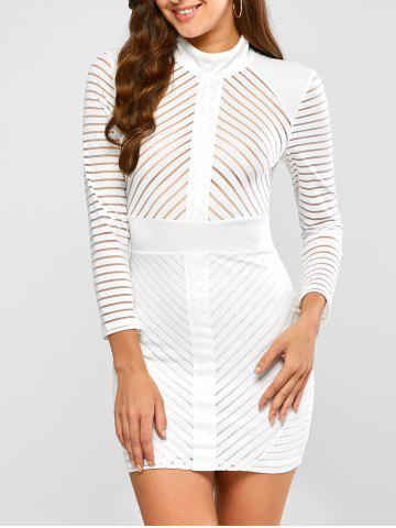 Store High Neck Mini Bodycon Fitted Bandage Dress