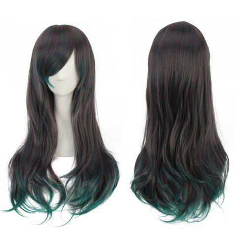 Shops Long Side Bang Tail Adduction Mixed Color Synthetic Cosplay Wig