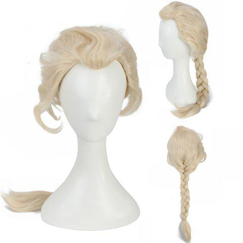 Sale Long Braided Mixed Color Queen Synthetic Cosplay Wig COLORMIX