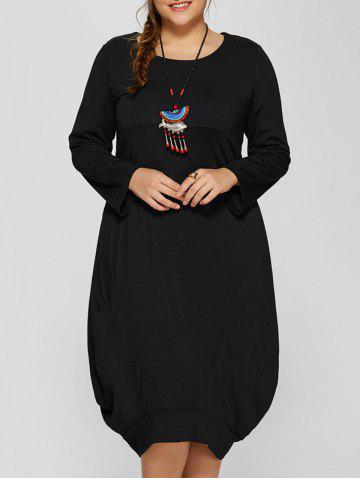 Sale Long Sleeve Plus Size Midi Baggy Dress