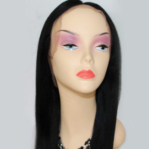 Chic Long Centre Parting Lace Front Straight Indian Human Hair Wig