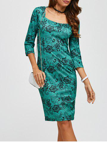 Shop Floral Print Knee Length Sheath Dress