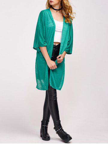 Cheap Open Front Side Slit Duster Cardigan