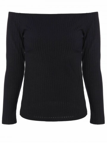 89337341b5 Off The Shoulder Ribbed Knitwear